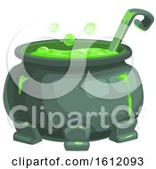 Clipart Of A Bubbly Cauldron Royalty Free Vector Illustration