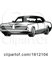 Black And White Muscle Car