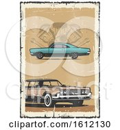 Clipart Of A Vintage Car Design Royalty Free Vector Illustration