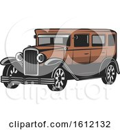 Clipart Of A Vintage Or Antique Car Royalty Free Vector Illustration