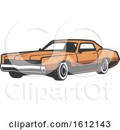 Clipart Of A Vintage Car Royalty Free Vector Illustration