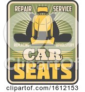 Clipart Of A Vintage Automotive Seat Design Royalty Free Vector Illustration