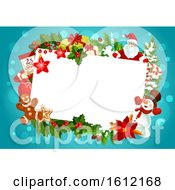 Clipart Of A Christmas Border Royalty Free Vector Illustration