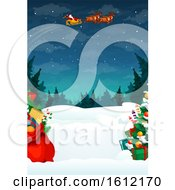 Clipart Of A Christmas Background Royalty Free Vector Illustration