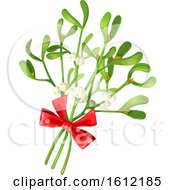 Clipart Of A Sprig Of Mistletoe Royalty Free Vector Illustration by Vector Tradition SM