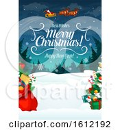 Clipart Of A Christmas Design Royalty Free Vector Illustration
