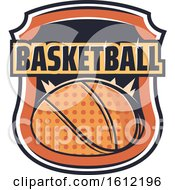 Clipart Of A Basketball Sports Design Royalty Free Vector Illustration