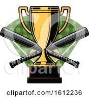 Poster, Art Print Of Baseball Trophy Design