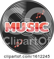 Poster, Art Print Of Vinyl Record Music Design