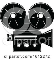 Clipart Of A Cinema Movie Projector Royalty Free Vector Illustration
