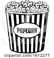 Clipart Of A Cinema Movie Popcorn Bucket Royalty Free Vector Illustration by Vector Tradition SM