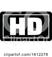 Clipart Of A Cinema Movie Hd Label Royalty Free Vector Illustration by Vector Tradition SM