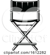 Clipart Of A Cinema Movie Director Chair Royalty Free Vector Illustration