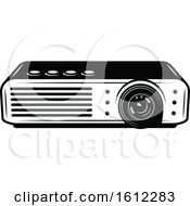 Clipart Of A Movie Projector Royalty Free Vector Illustration