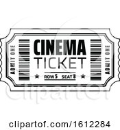 Clipart Of A Cinema Movie Ticket Royalty Free Vector Illustration