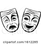 Clipart Of Theater Masks Royalty Free Vector Illustration by Vector Tradition SM
