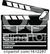 Clipart Of A Cinema Movie Clapper Board Royalty Free Vector Illustration by Vector Tradition SM