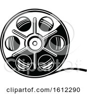 Clipart Of A Cinema Movie Film Reel Royalty Free Vector Illustration