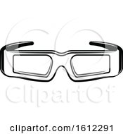 Clipart Of A Cinema Movie Pair Of 3d Glasses Royalty Free Vector Illustration