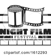 Clipart Of A Cinema Night Film Festival Design Royalty Free Vector Illustration by Vector Tradition SM