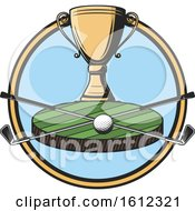 Clipart Of A Golf Championship Sports Design Royalty Free Vector Illustration by Vector Tradition SM