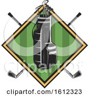 Clipart Of A Golf Sports Design Royalty Free Vector Illustration by Vector Tradition SM
