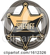 Star Sheriff Badge Over Rope