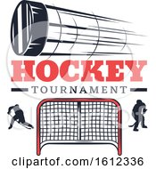 Clipart Of A Hockey Sports Design Royalty Free Vector Illustration
