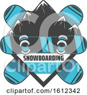 Clipart Of A Snowboarding Design Royalty Free Vector Illustration by Vector Tradition SM
