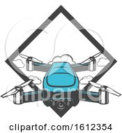 Clipart Of A Drone Aerial Photography Design Royalty Free Vector Illustration by Vector Tradition SM