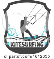Clipart Of A Kitesurfer Royalty Free Vector Illustration by Vector Tradition SM