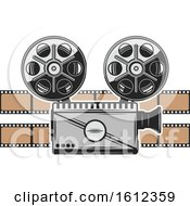 Clipart Of A Cinema Movie Camera Royalty Free Vector Illustration by Vector Tradition SM