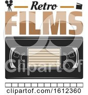 Clipart Of A Vhs Tape Royalty Free Vector Illustration