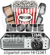 Clipart Of A Cinema Movie Design Royalty Free Vector Illustration