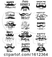 Clipart Of Fathers Day Mustache Designs Royalty Free Vector Illustration