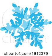 Clipart Of A Blue Winter Snowflake Royalty Free Vector Illustration