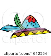 Clipart Of A Dia De Muertos Day Of The Dead Hat Royalty Free Vector Illustration