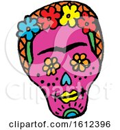 Clipart Of A Dia De Muertos Day Of The Dead Skull Royalty Free Vector Illustration