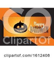 Halloween Banner Design With Cute Pumpkin