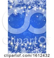 Poster, Art Print Of Christmas Snowflakes And Stars