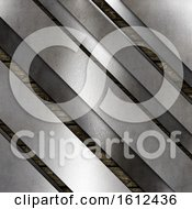 Abstract Metallic Texture On A Wooden Background