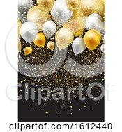 Celebration Background With Balloons And Confetti