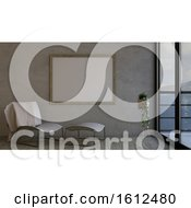 Poster, Art Print Of 3d Contemporary Empty Room And Picture Frame