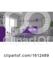 Poster, Art Print Of 3d Contemporary Living Room Interior And Modern Furniture