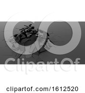 Poster, Art Print Of 3d Shatter Abstract Wallpaper Background
