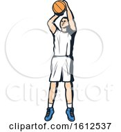 Clipart Of A Baskeball Player Royalty Free Vector Illustration