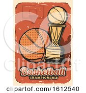 Poster, Art Print Of Distressed Baskeball Championship Design