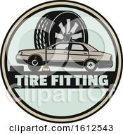 Clipart Of A Car Tire Fitting Automotive Design Royalty Free Vector Illustration