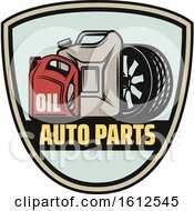 Clipart Of A Shield Car Parts Automotive Design Royalty Free Vector Illustration
