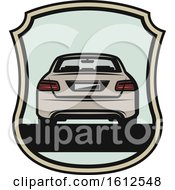 Clipart Of A Shield Automotive Design Royalty Free Vector Illustration
